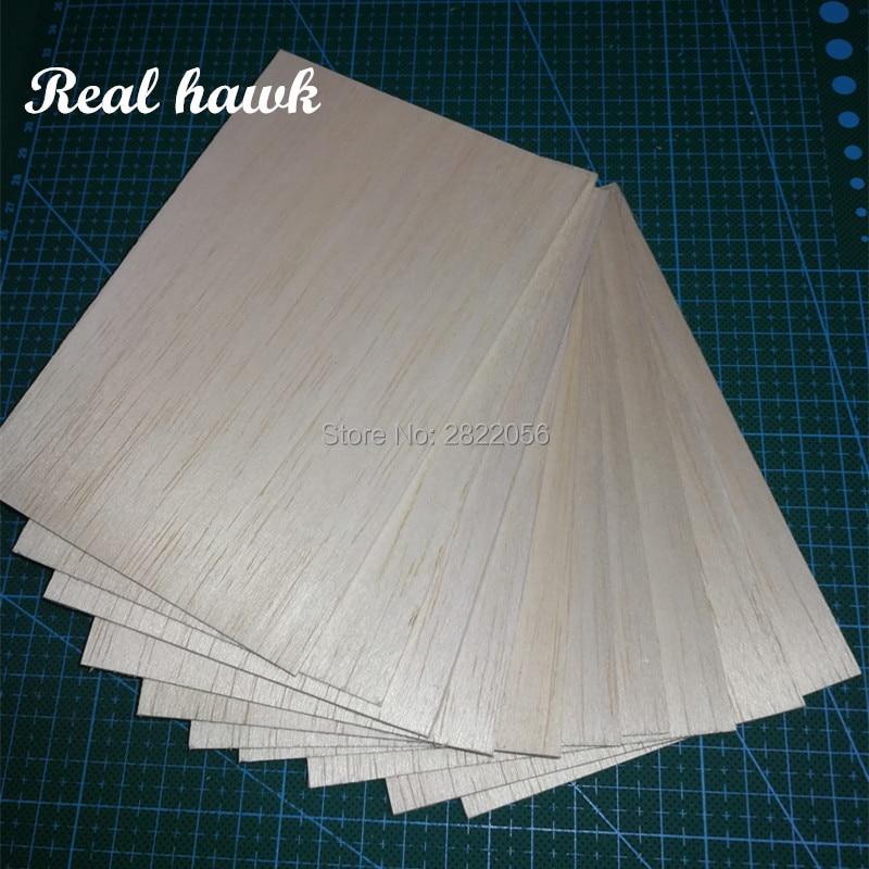 10/20pcs AAA+ Balsa Wood Sheets 150x100x4mm Model Balsa Wood for DIY RC model wooden plane boat material enlarge