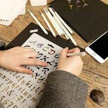 Règle Alphabet prépeinte 3 styles   Masque en aérosol, pochoirs de superposition, gabarit, timbre, peinture, carte en papier, gaufrage, artisanat ABC