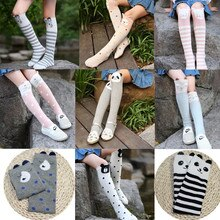 Spring Autumn Cartoon Cute Kids Socks Animal Baby Cotton Socks Knee High Long Leg Warmers Cute Socks