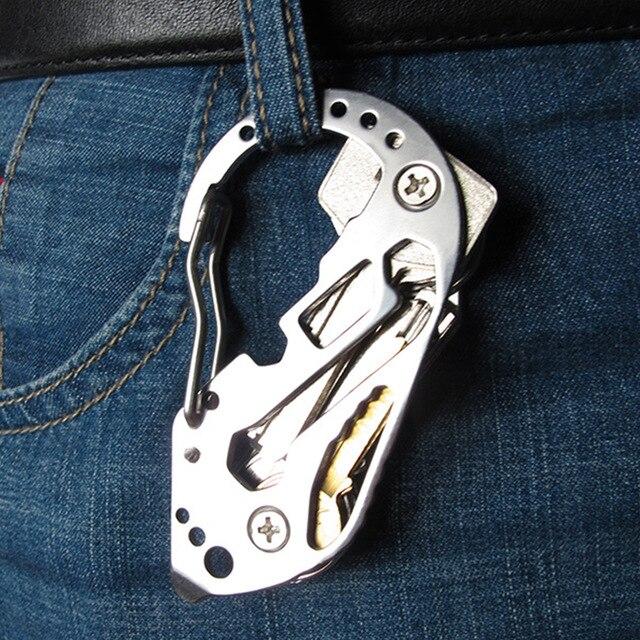 Держатель EDC зажим гаджет quickdraw Многофункциональная вешалка Пряжка инструмент для подъема многофункциональный инструмент карабин для кемпинга органайзер для ключей карман