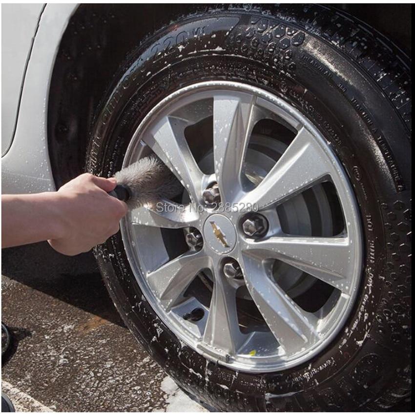 Herramienta de limpieza de la rueda de frotar llantas de neumático cepillo para BMW E36 E39 E46 E60 E90 E30 E34 F10 F15 F30 X1 X3 X5 X6 M Audi A3 A4 B5 B6 B8 B