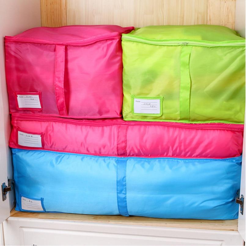 Bolsa de almacenamiento plegable para ropa, manta, colcha, armario, suéter, caja organizadora, bolsa portátil de tela no tejida, bolsa organizadora