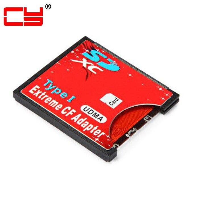 Jimier Flash compacto CF tipo I SD SDHC SDXC a alta velocidad Extreme 3,3mm tarjeta adaptadora de altura para 16GB 32GB 64GB 128GB