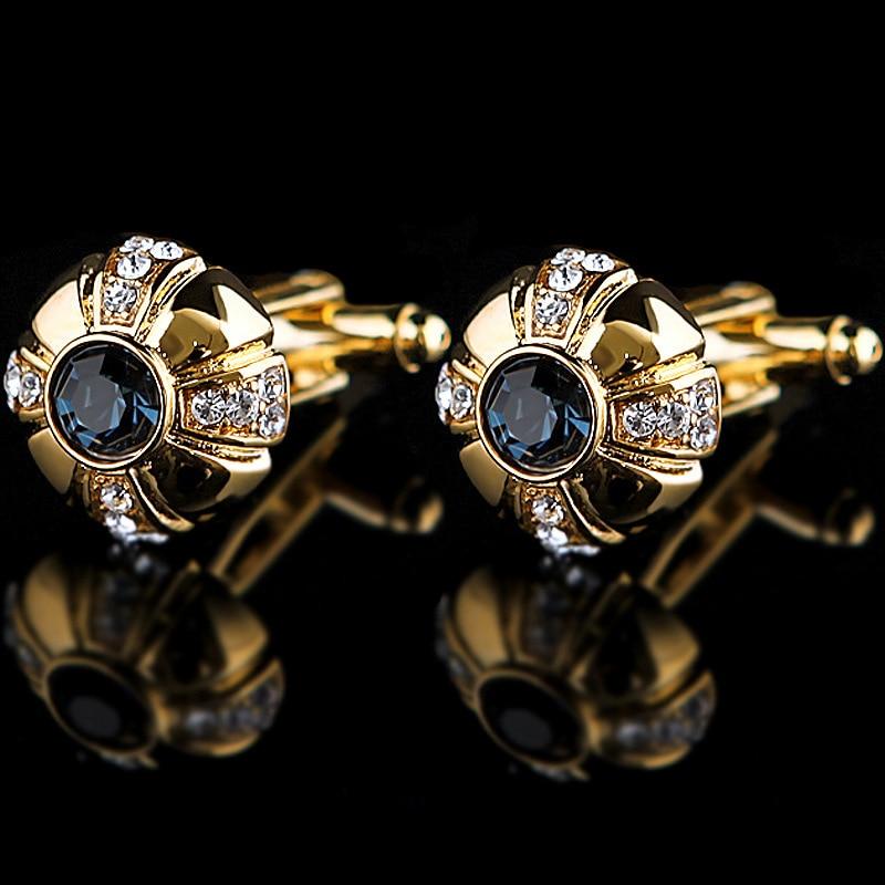 Hot sale Luxury Mens Cufflinks Gold Lawyer Cuff links Buttons French Shirt Cuffs Men Cufflink Wedding Jewelry Father's day Gifts