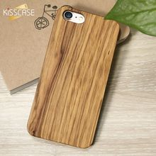 Funda KISSCASE de madera de bambú genuina para iPhone 7 6X8 6S Plus 5S XS 11 Pro Max XR fundas naturales reales para iPhone 7 Plus 8