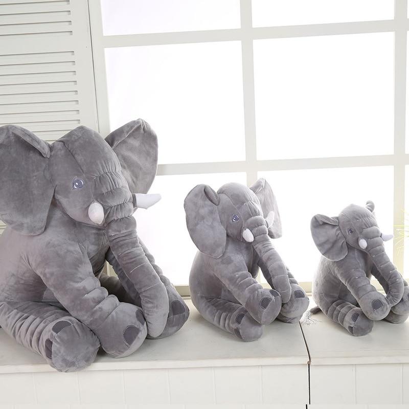 1PCS Hot Selling Elephant Pillow Plush Toys Baby Sleep with Comfort stuffed Elephant toy Children Sleep soft doll Gift 28*33CM