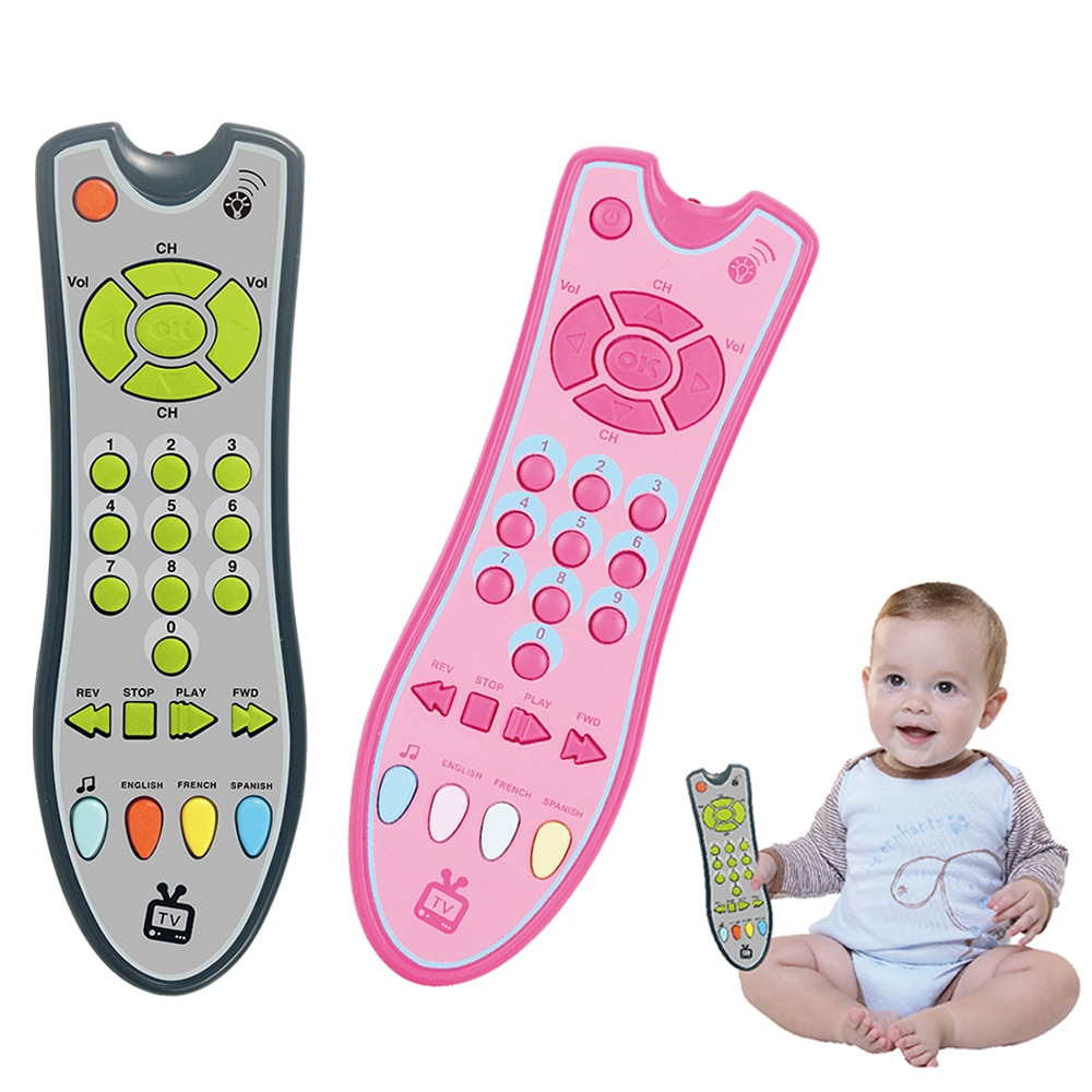 Baby Toys Smart Mobile Phone TV Remote Control Car Key Early Educational Toys Electric Numbers Learn