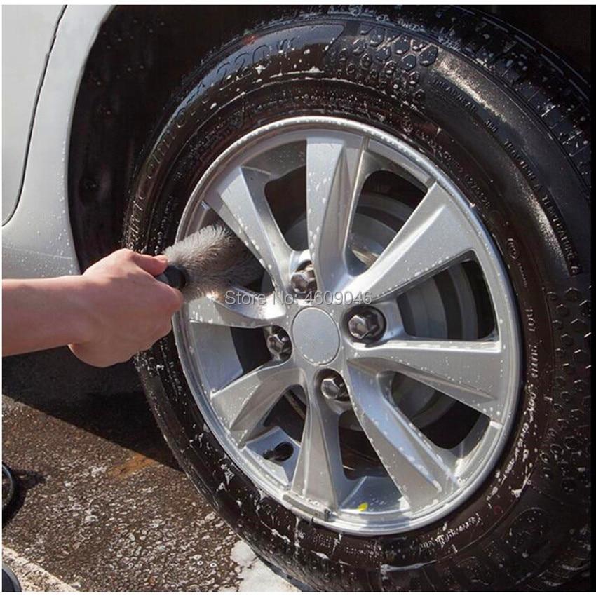 1 Uds de rueda de coche de frotar llantas de neumático lavado accesorios de fregado para alfa romeo giulietta golf 6 audi a3 8v fiat 500x mercedes bmw e46 audi