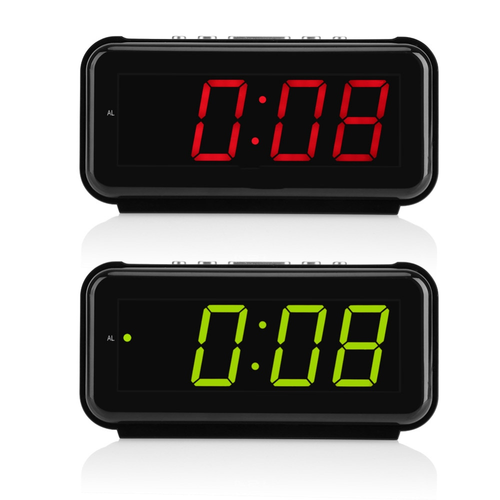 Reloj despertador Digital de Mesa Electrónica de 220V temporizador de escritorio grande de 1,8 pulgadas de pantalla LED función de alarma temporizador bueno