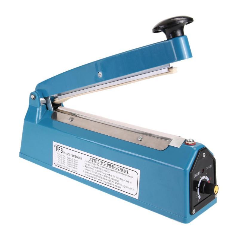 "300W 8"" Heat Sealing Impulse Manual Sealer Heat Sealing Machine For Environmental Protection Plastic Bag Food Sealers Machine"