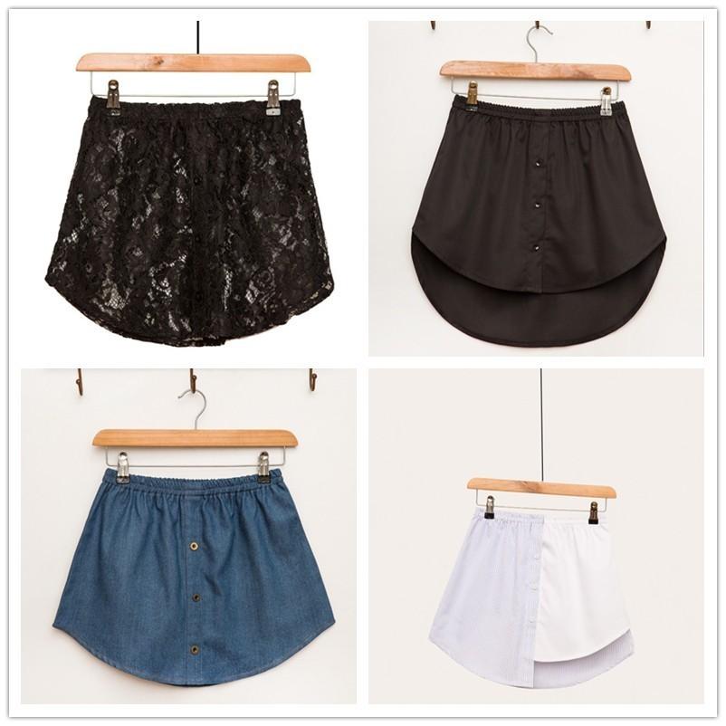 ¡Novedad de 2019! falda falsa a rayas de Color Irregular, falda femenina de medio cuerpo, venta al por mayor, drop shpper