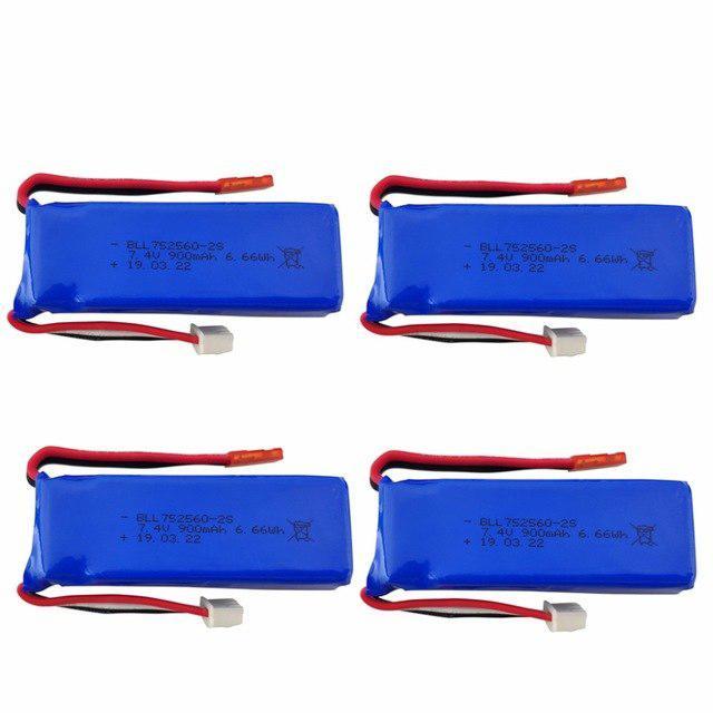 LeadingStar 7,4 V 900mAh batería de litio para XK X520 XK X420 6 canales sin escobillas Aileron 3D acrobacias accesorios de helicóptero