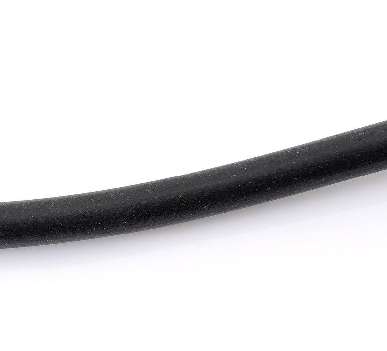 Doreenbeads preto redondo tubuing cabo de borracha tubo sólido cabo feito à mão diy jóias fazendo encontrar 4mm diâmetro. 10M comprimento