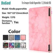 DyGod 6''For الامازون أوقد Paperwhite 1 2 3 القارئ الإلكتروني حالة تغطية مع حزام اليد حزام بو أغطية جلد فوندا حالة ل أوقد 958