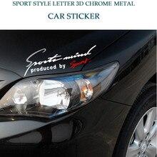 Sıcak araba çıkartmaları spor mektup çıkartmaları kaputu Sticker Voiture için Vlokswagen Audi A3 Ford Fiesta