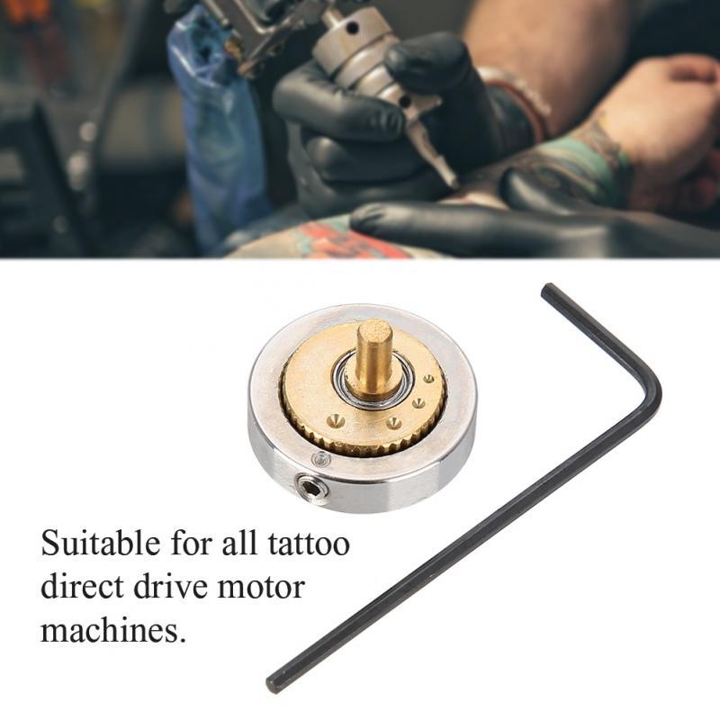 Nuevos accesorios de la máquina de tatuaje con Motor directo ajustable, rueda excéntrica para máquina de tatuaje de acero inoxidable 3