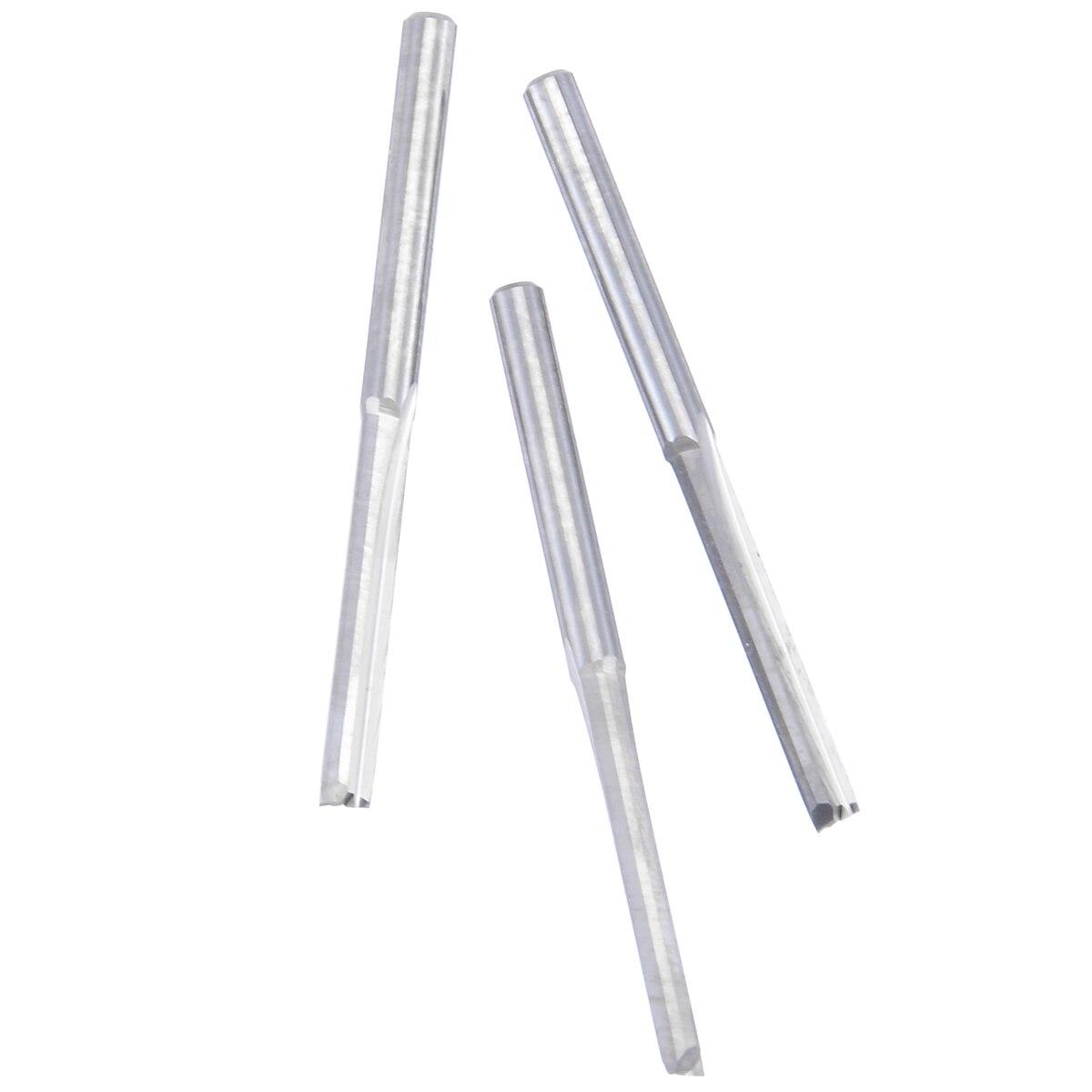Купить с кэшбэком 10pcs 2 Flute End Mill Set 3.175mm Shank Tungsten Carbide CNC Milling Cutter For Woodworking Engraving Machine