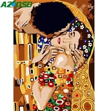 AZQSD Сделай Сам масляная краска для любителей покраски по номерам Kiss, картина из холста, ручная краска ed, современные украшения для дома K156
