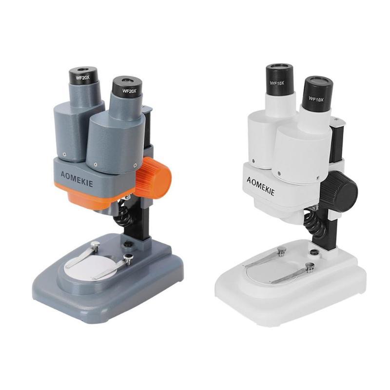 Binocular Microscopio estéreo 20X/40X arriba, luces LED, herramienta de soldadura PCB 2X lente, reparación de teléfono móvil, Microscopio de visión Mineral