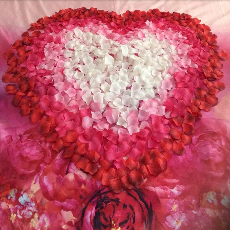 Pétalos De rosas artificiales De seda para decoración De fiestas, pétalos De...