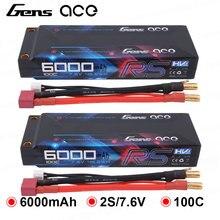 2 PCS Gens ace 100C-200C RC Auto Batterie 7,6 V 6000 mAh Batterie 2 S T Stecker für 1/8 1/10 stampede Auto Modelle IFMAR Racing Batterie