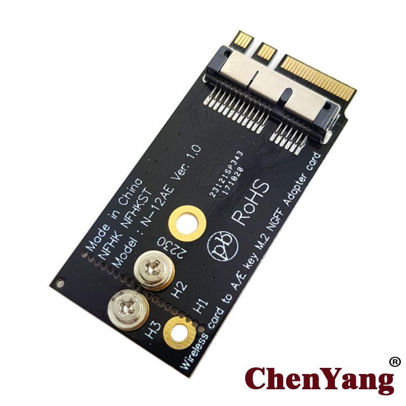 Chenyang BCM943224PCIEBT2 BCM94360CS2 Drahtlose Karte zu NGFF M.2 Taste EIN/E Adapter