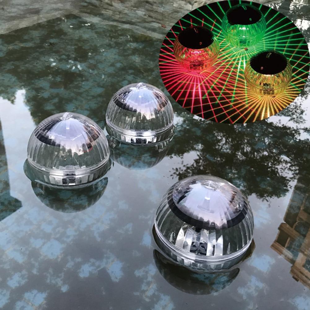 Luz flotante RGB LED de 7 colores que cambia con energía Solar lámpara de noche impermeable para la iluminación de la piscina para la decoración del jardín de la fuente del estanque