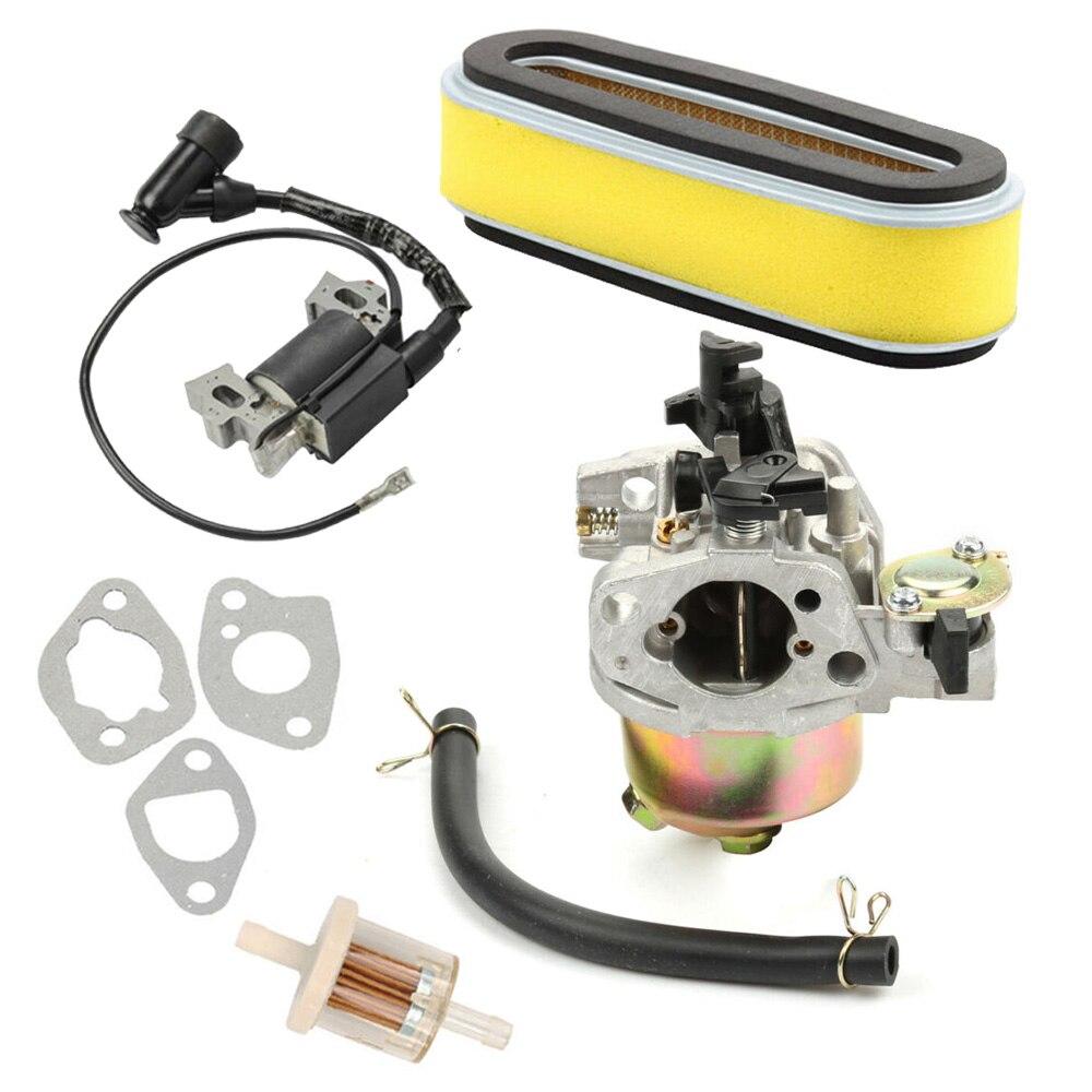 Carburador de bobina de encendido para Honda GXV120/140/160 Hr194/195/214/215 con filtro de combustible, tubería de aceite, motor cortacésped 5,5 HP
