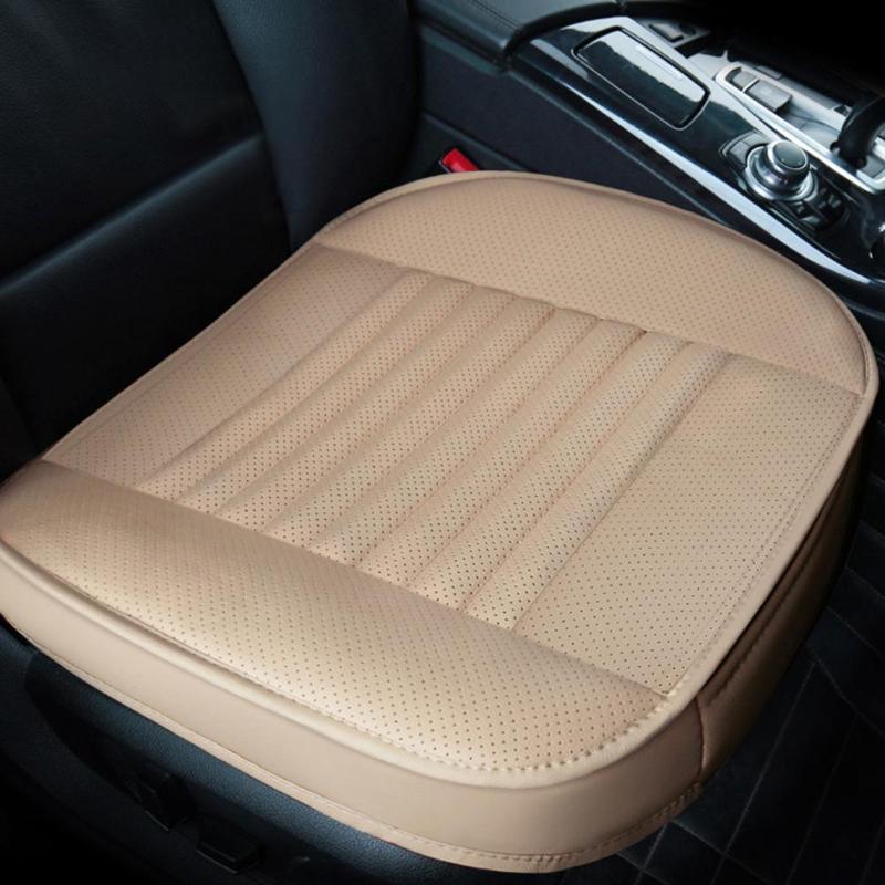 Funda para asiento de coche, cojín de cuero PU transpirable de verano, cojín para silla delantera, fundas de asiento cómodas hechas a mano, accesorios para interior de coche