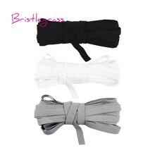BRISTLEGRASS 5 Yard 7mm Stricken Solide Dünne Elastische Spandex Satin Band kid Hairband Stirnband Krawatte Kleid Spitze Trim DIY nähen