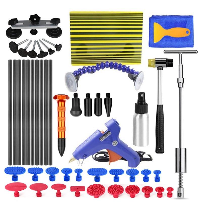Pdr Gereedschap Auto Body Verveloos Dent Repair Removal Tools Kit Deuk Brug Puller Set Pdr Lijm Dent Repair Tools