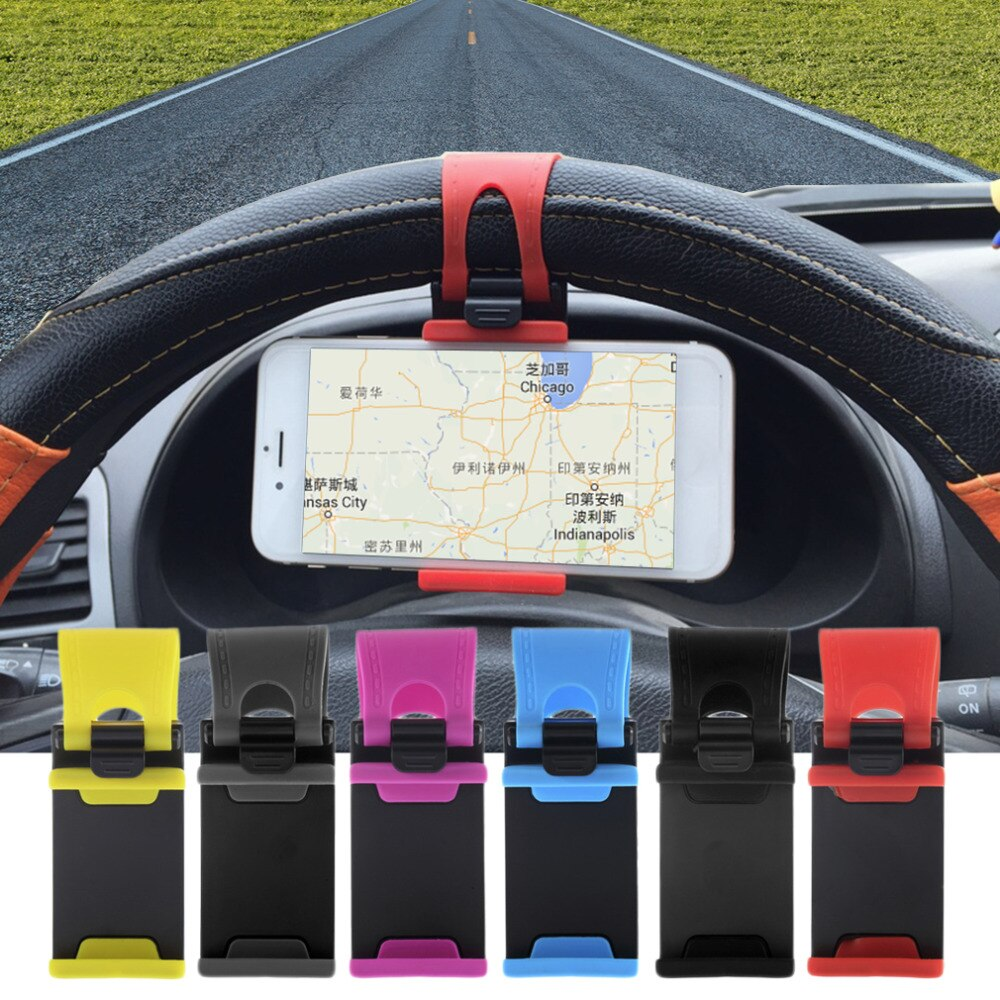 Universal Car Steering Wheel Mobile Phone Holder Clip Bracket Mount Holder Stand Buckle 2019 For Samsumg For LG GPS MP4 PDA