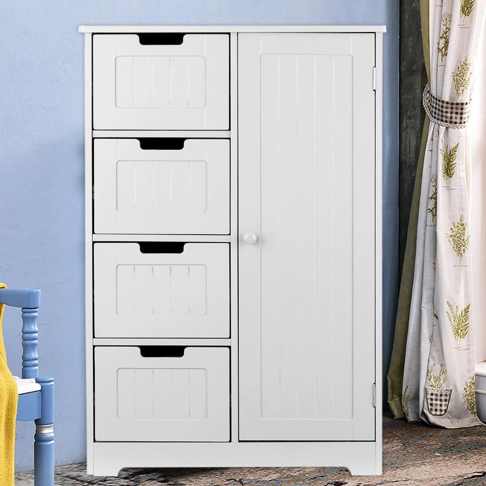 Moderna caixa de armazenamento shelved piso armário com porta & gavetas organizador de armazenamento do quarto móveis para casa