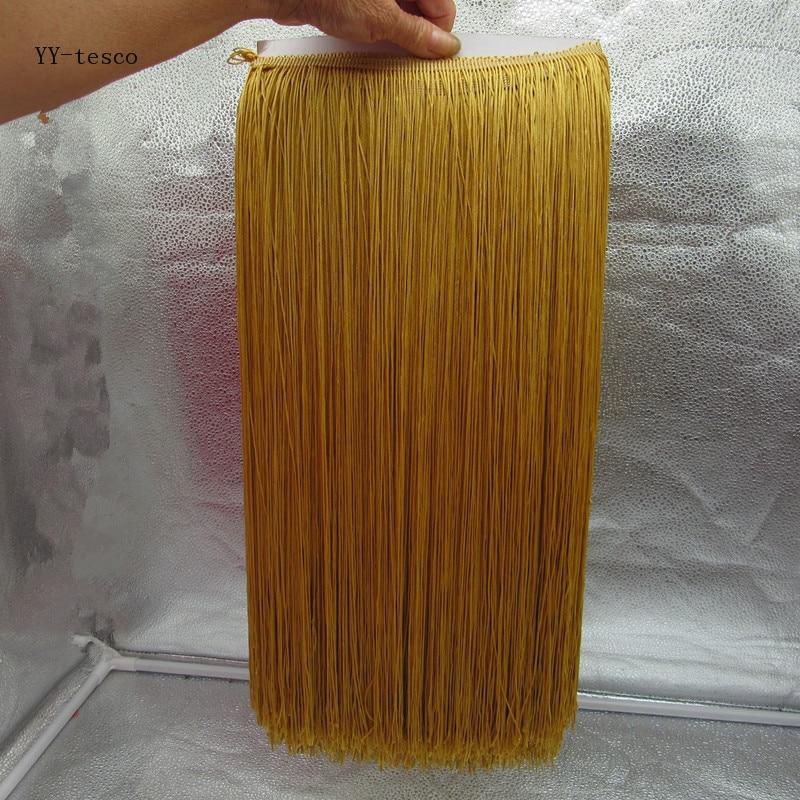 YY-tesco 5 yardas 100 CM de largo de encaje de flecos de borla de flecos de oro recorte de cinta de encaje Diy vestido Latino etapa Ropa Accesorios