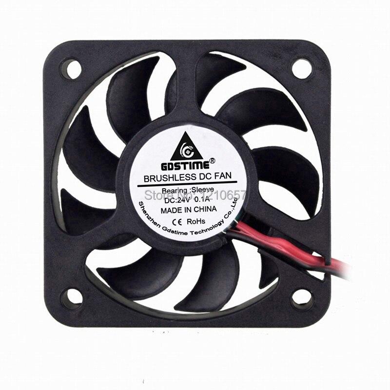 Lote 10 piezas 80mm 80 50mm 5010 5cm 50x10mm 24V DC 2Pin disipador térmico radiador enfriador Fan