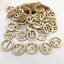 Numéros en bois en bois de numéro de Capital en bois de 50pcs pour des affichages de décoration de bricolage dartisanat dart