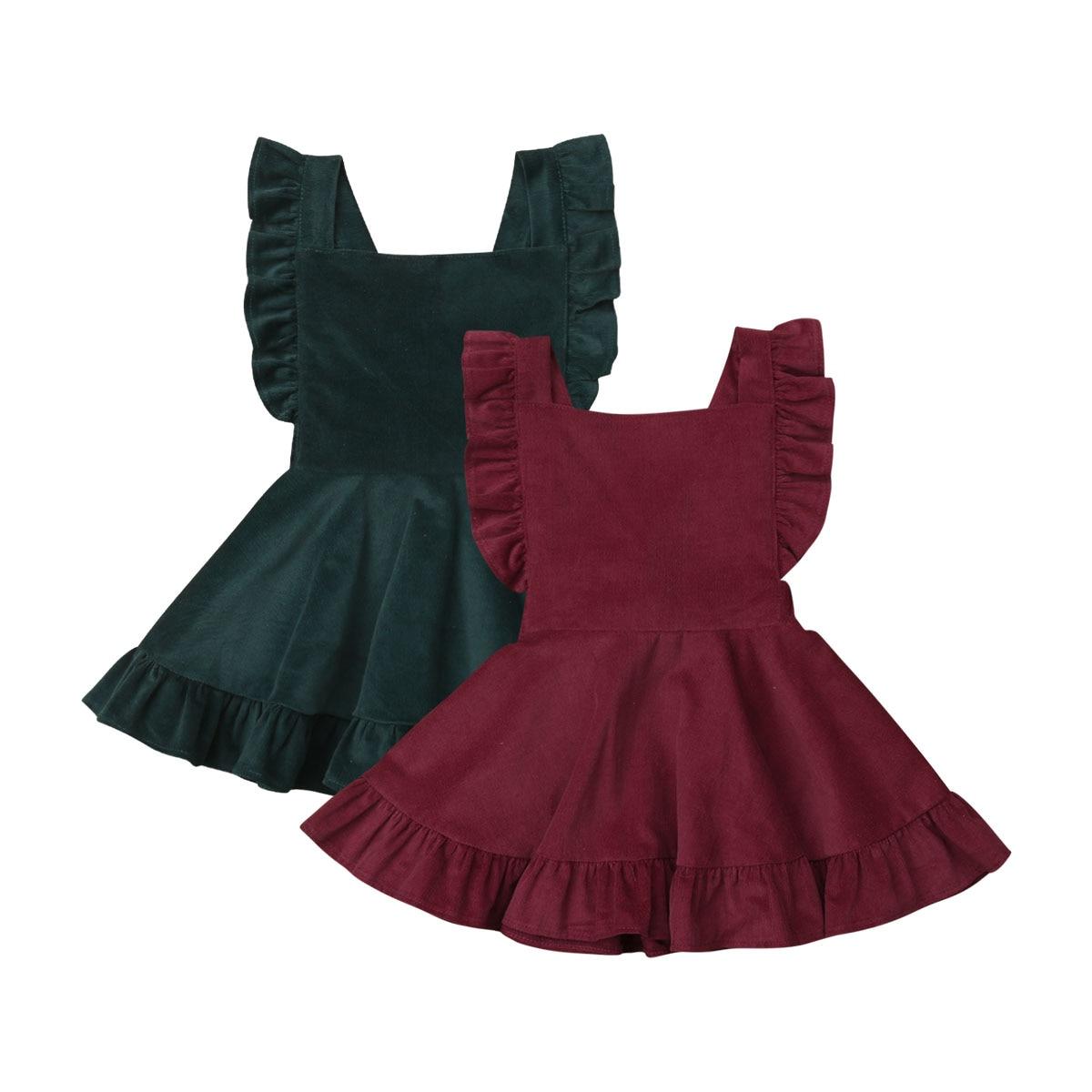 6 M-4 T recién nacido bebé niña linda princesa vestidos PANA Correa ropa