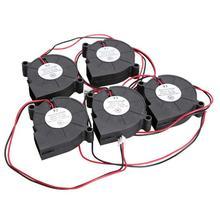 Ventilateur de ventilateur de refroidissement cc sans brosse noir de conception de douille-roulement silencieux de 5 Pcs/Lot avec le matériel de lame de PBT de UL94V-0 uthermoplastique