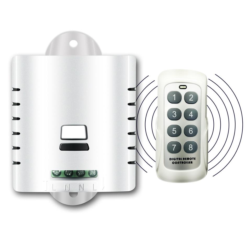 Inalámbrico RF 433MHz inteligente energía eléctrica AC Cable conector 10A 80-250V con interruptor de Control remoto US EU UK AU