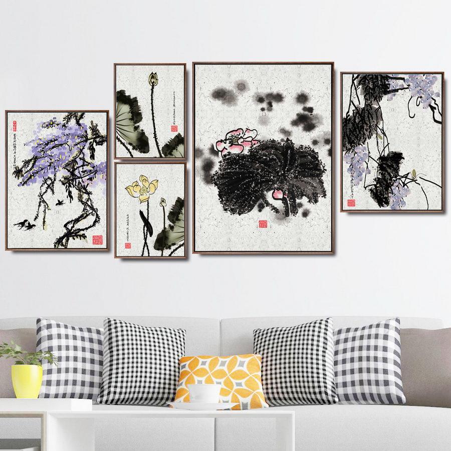 Decoración del hogar pintura al óleo lienzo de pared arte cuadros decoración...