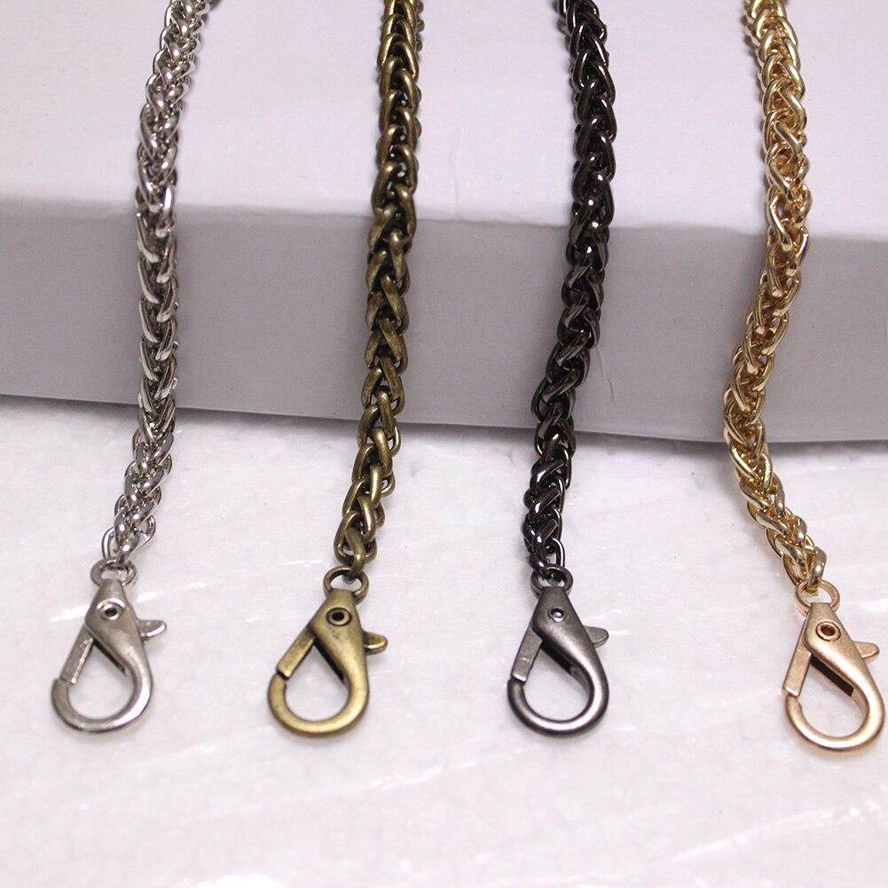 40-120cm Gold Silver Copper Lantern Chain For Handbag Purse Replacement Shoulder Bag Strap Lobster Clasp Chain Bag Accessories