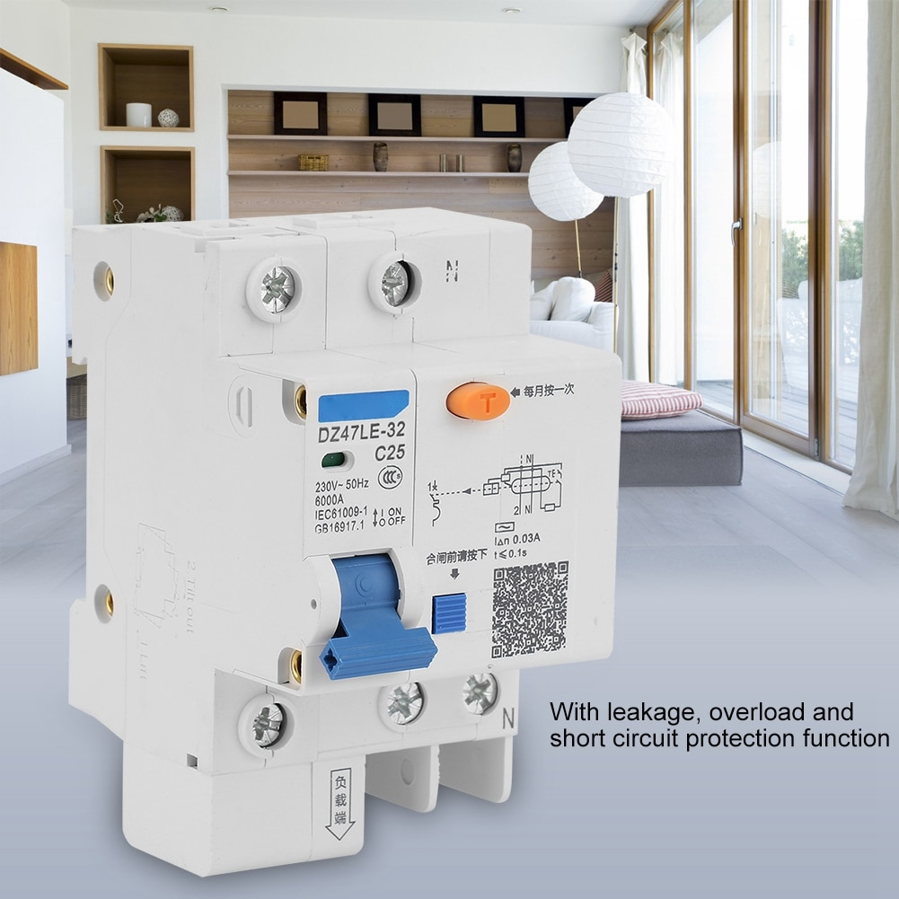 DZ47LE-32 1 P + N C25 Leckage Schutz Fehlerstromschutzschalter 230 V 25A