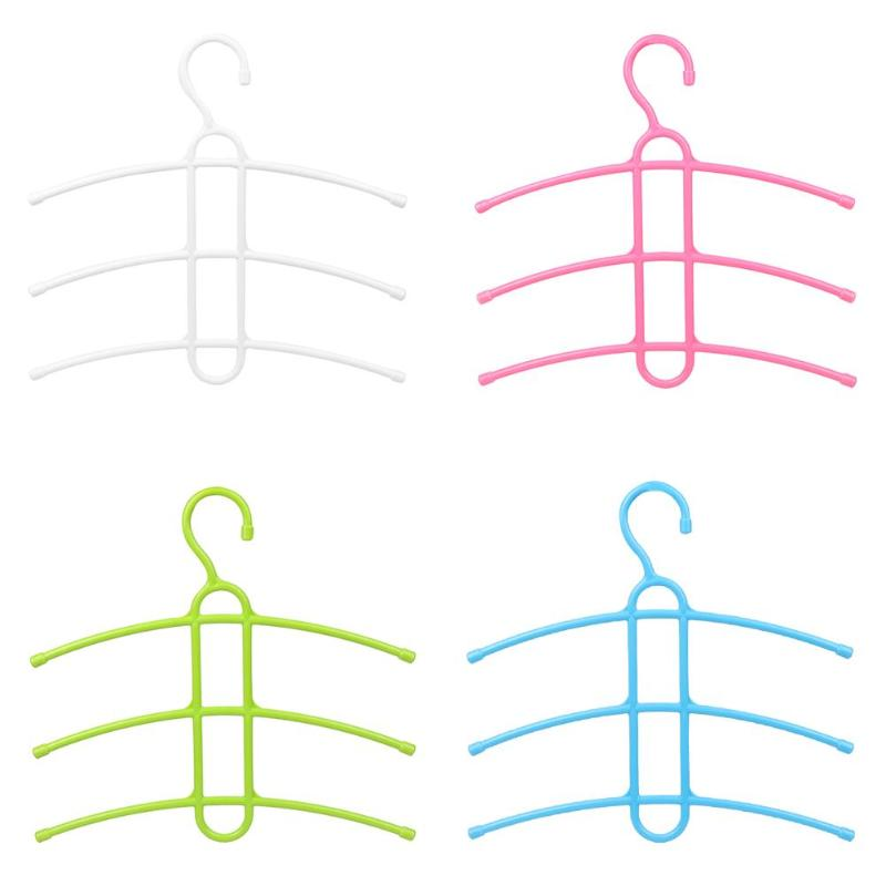 Práctico colgador de ropa de múltiples capas tipo espina de pescado ropa y toallas almacenamiento armario empotrado espacio de vestuario Saver colgador colgante