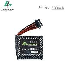 Original battery 6P-SM plug 9.6V 800mAh Li-ion battery for 9115 S912 9116 high speed RC Truck RC car battery 9.6 v free shipping