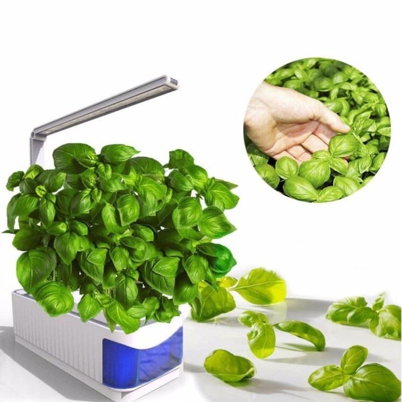 Smart Indoor Herb Garden Planter Kit LED Grow Light Hydroponic Growing Multifunction Desk Lamp Plant Flower Grow Lamp AC100-240V