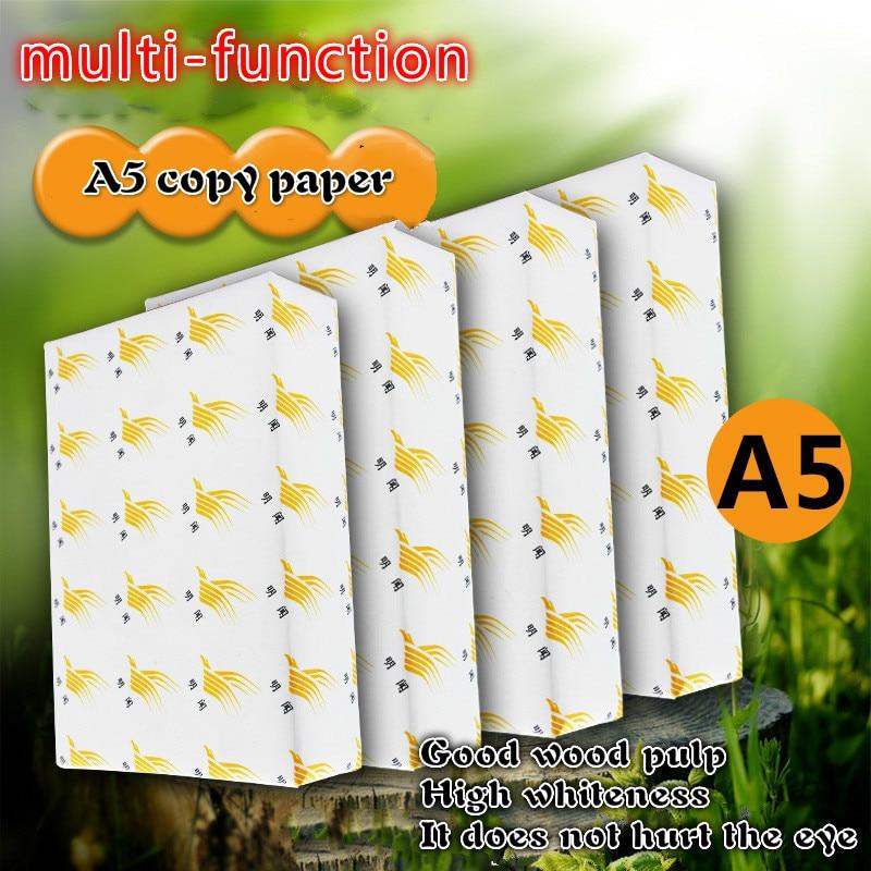 A5 бумага для печати A5 для копировальной бумаги 500 нервная 70 г бумага A5 белая бумага для печати