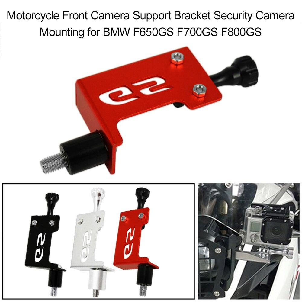 Wspornik kamery przedniej motocykla wspornik kamery bezpieczeństwa montaż srebrny dla GoPro BMW F650GS F700GS F800GS