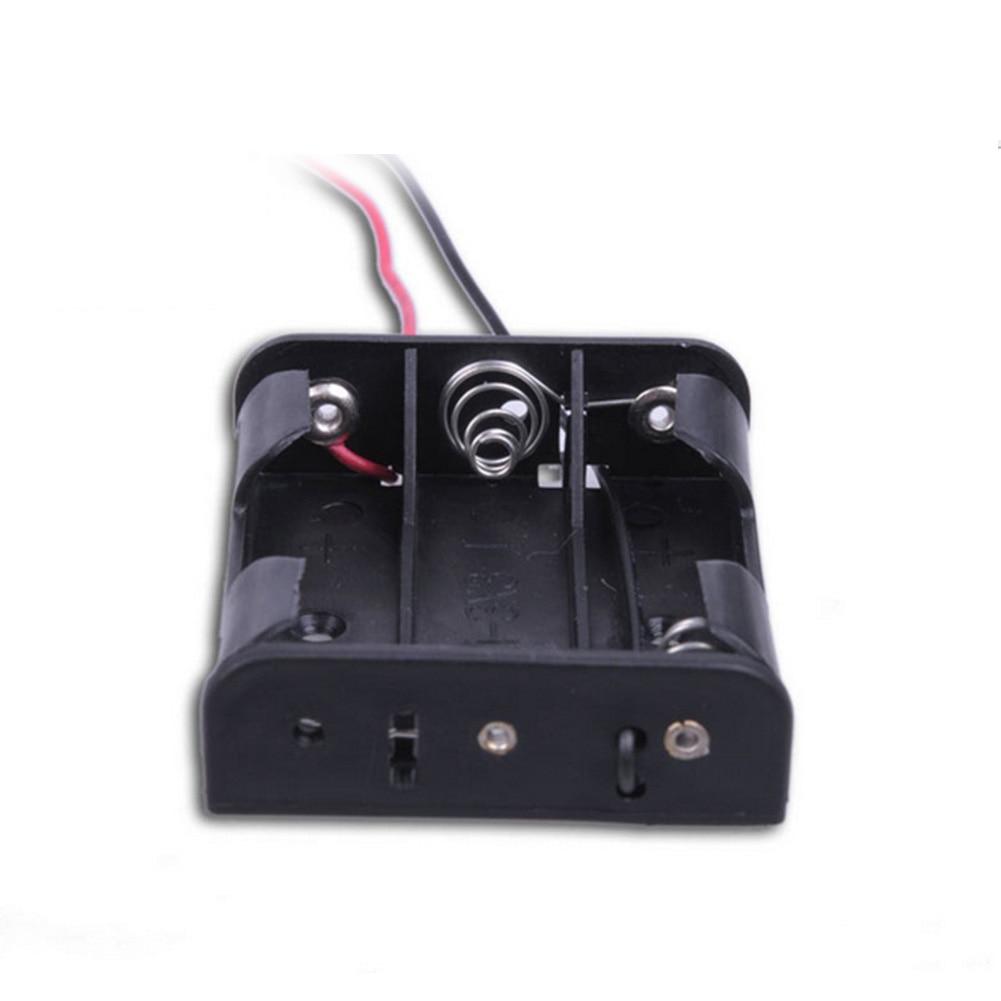Caja de almacenamiento de batería de plástico de 5 uds para 3 X AA 3xAA 4,5 V con cable de plomo