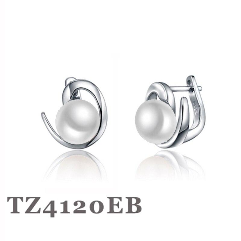 Sinya, pendientes de aro de perlas naturales de agua dulce para mujer, pendientes de plata de ley 925 con cierre en inglés, diseño para dejar atrás, gran oferta