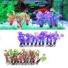 10 pcs Artificial Simulation Ornamental plants Aquatic Scenery Decorate to Aquarium Fish Tank Water plants